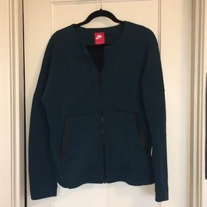 Nike Teal Crew Neck Fullzip Jacket